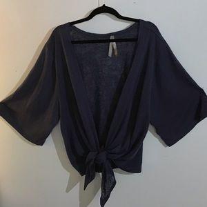 Short sleeve sweater shrug
